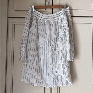 DR2 off the shoulder striped blouse!